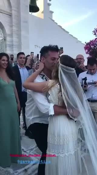 Γιώργος Χρανιώτης & Γεωργία Αβασκαντήρα: Οι πρώτες εικόνες από τον γάμο τους