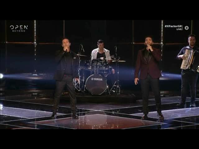 X-Factor: Το ντουέτο Χρήστου Μάστορα - Δημήτρη Μπάση
