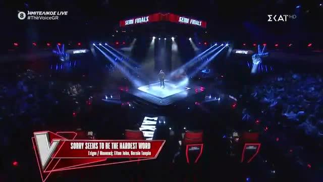 The Voice | Ημιτελικός: Δημήτρης Καραγιάννης